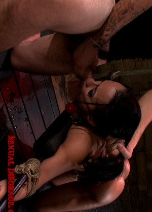image Becca diamond gags on big cock and fucked hard afterwards