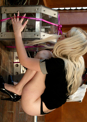 Sexy Blonde Office Babe Charlotte Stokely Has Some Great Legs