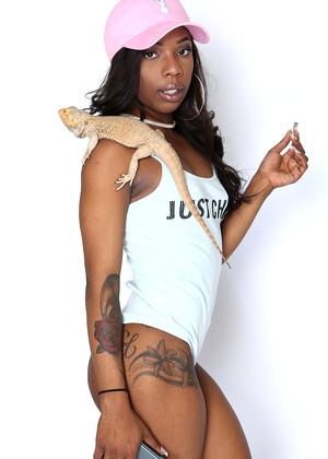 Ebony teen pornstar Sarah Banks goes ATM after fucking on leather sofa  1490857