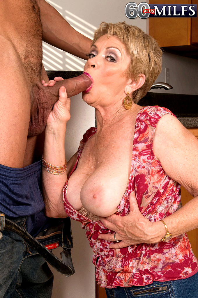 60 yr old grandma takes big black cock in interracial video - 1 8