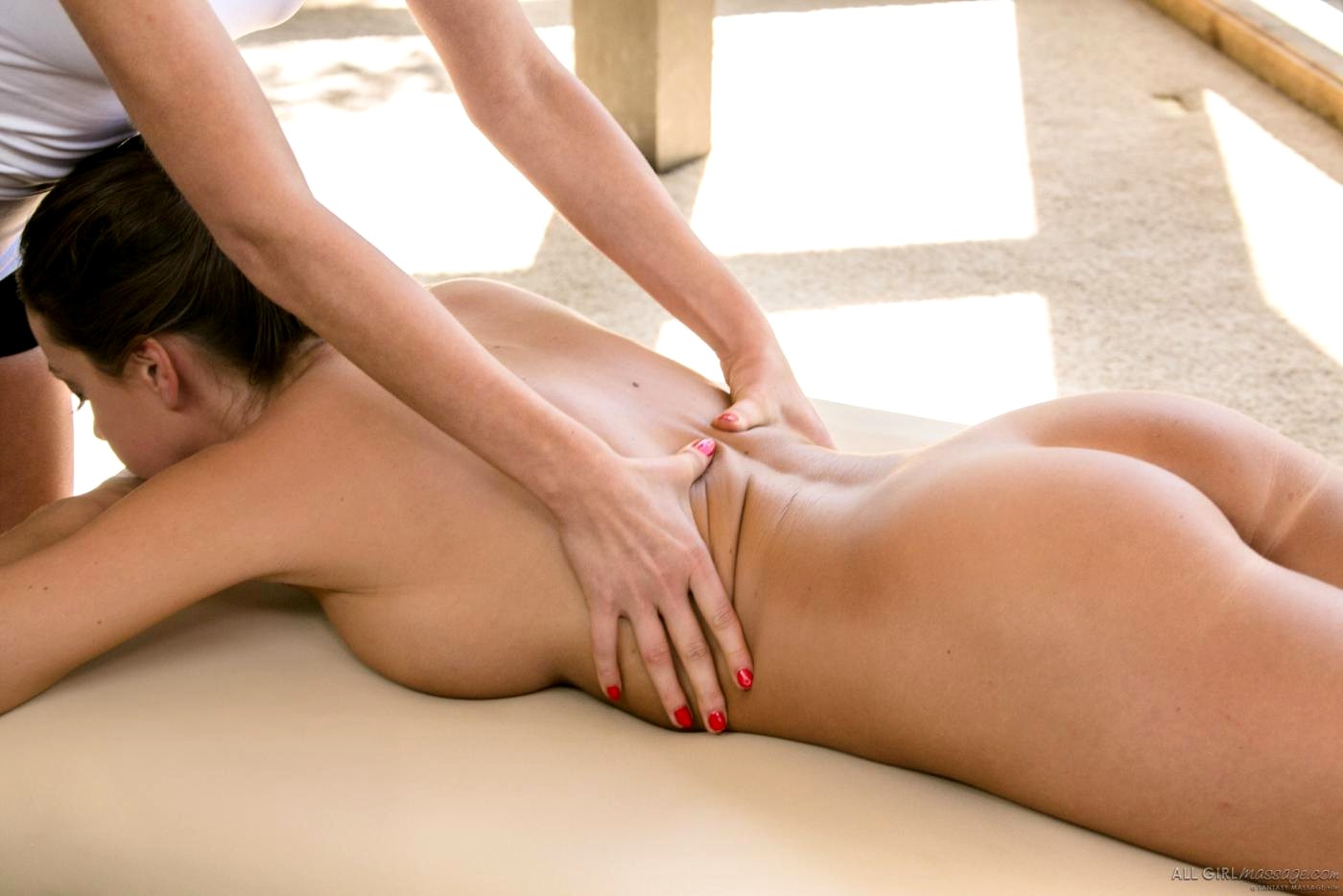 Sexiest lesbian girls massage their sexy bodies