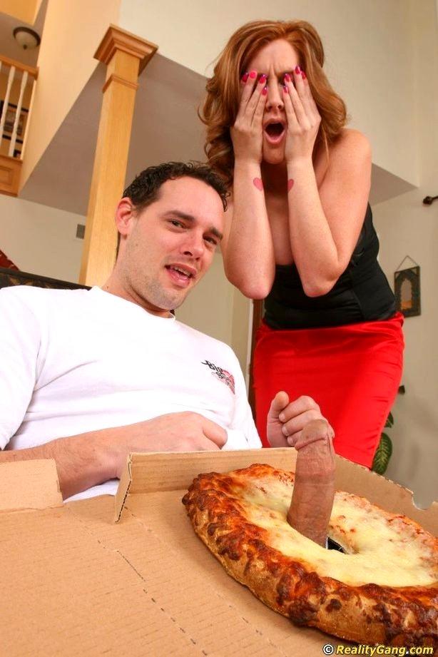 Big sausage pizza guy