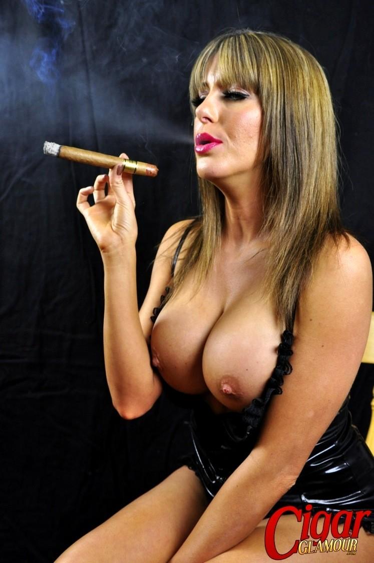 Cigar smoking nude