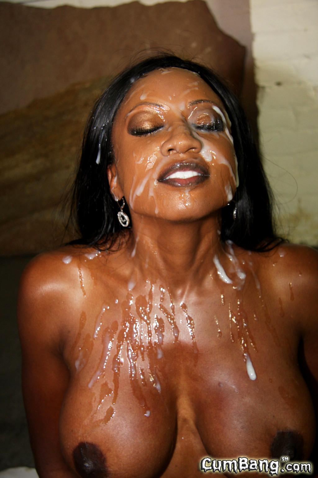 black naked girls cum