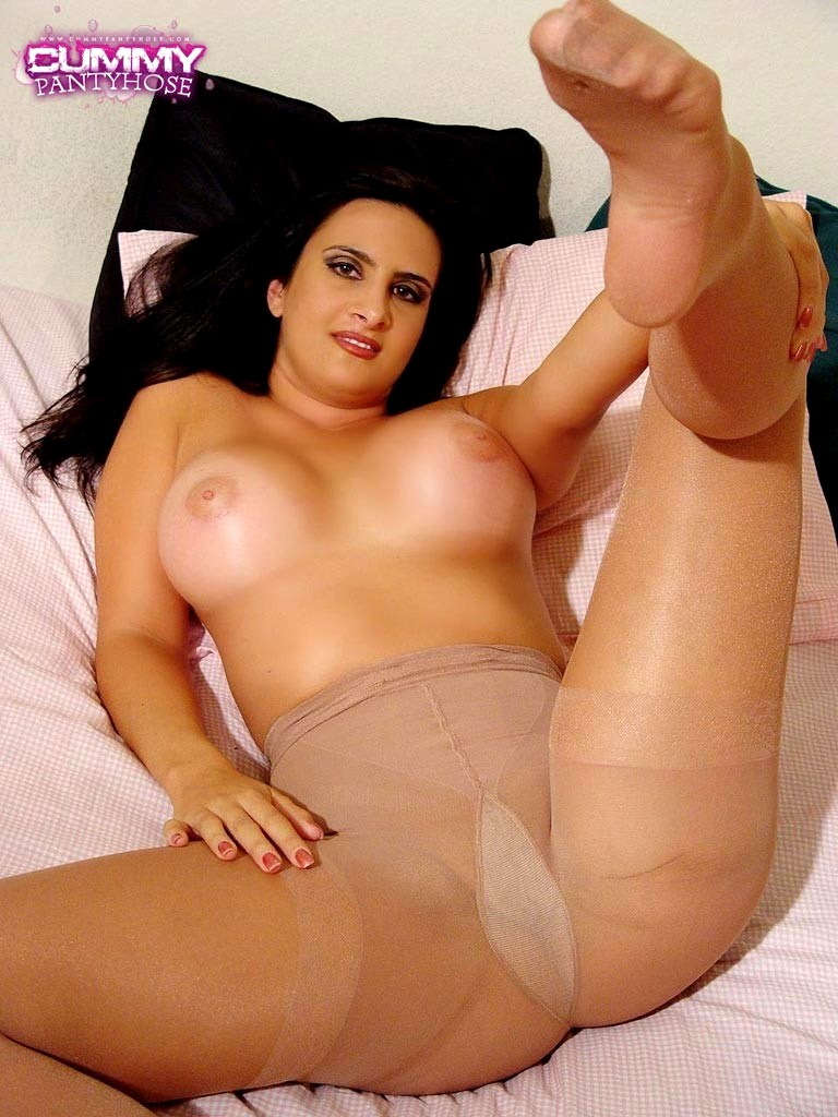 At cummy pantyhose this