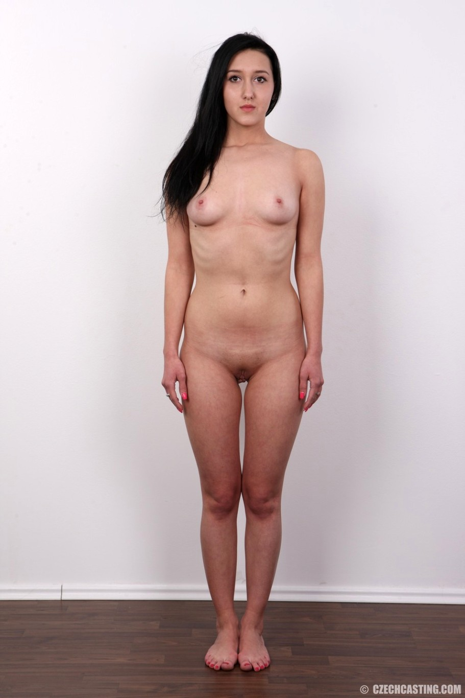 image Brunette model audition in seedy hotel room