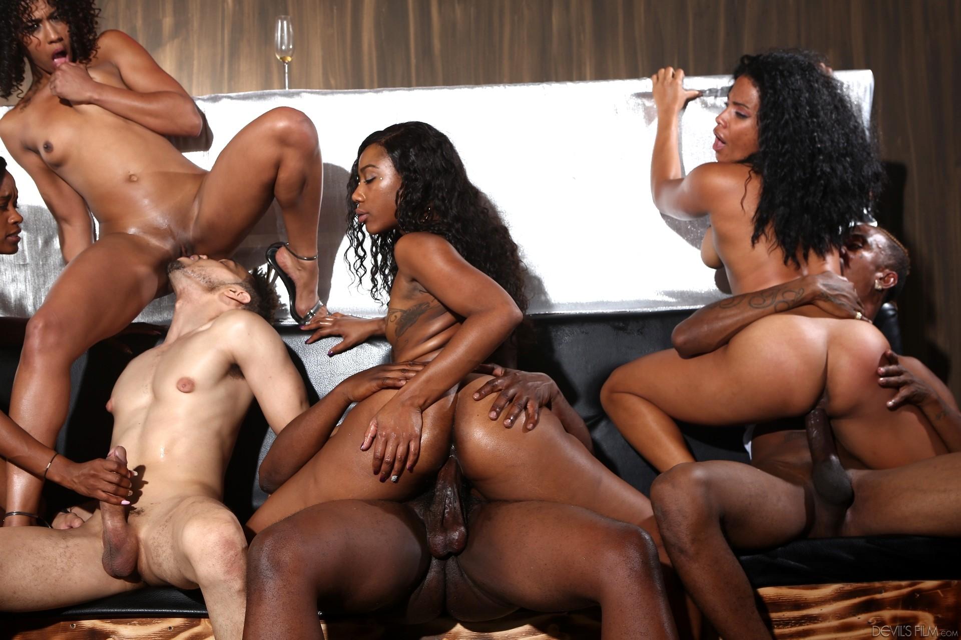 Black swingers sex photo
