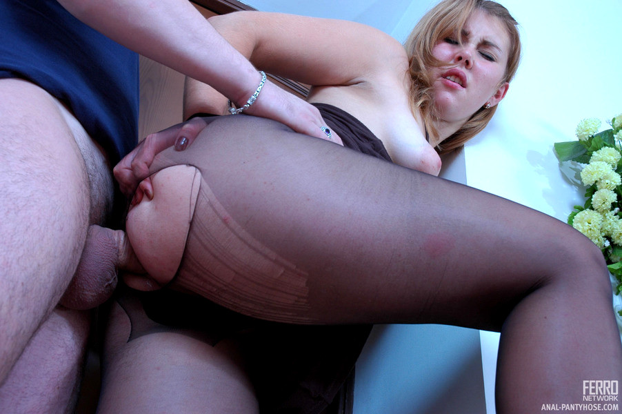 First anal nylon sex glamour