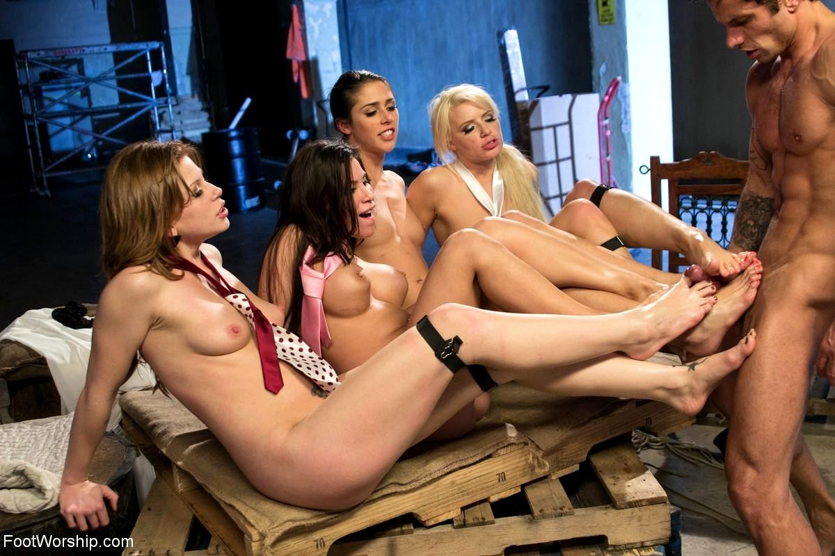 Foot fetish orgy hard