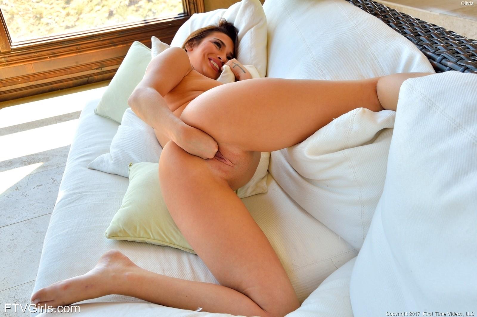 Brunette stepmom olivia nova in stockings fucks while husband away 3