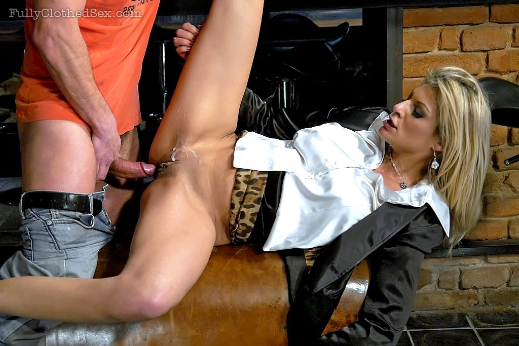 Fully clothed oral sex