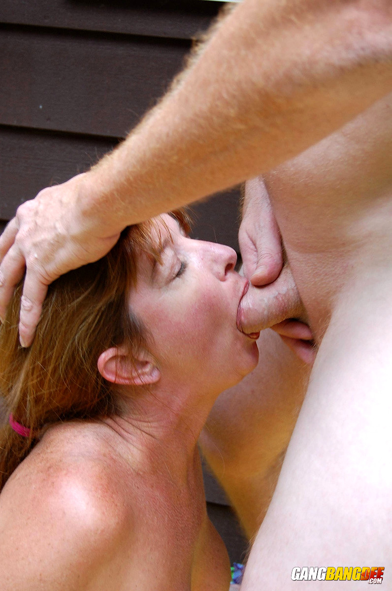 Outdoor blowjob gets a match point 10