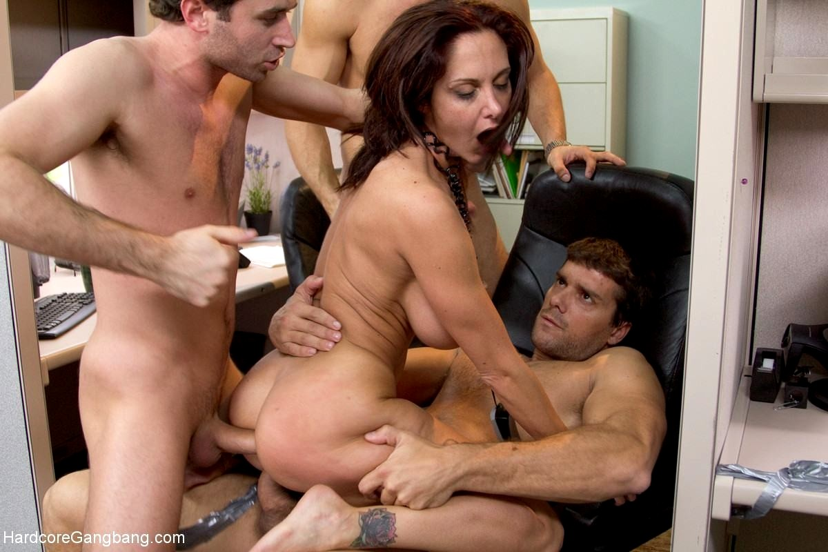 Naughty wife gangbanged by over 50 guys