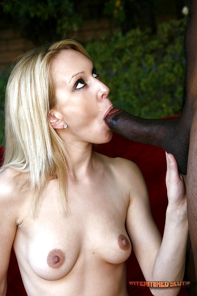 Hot blond sucking cock