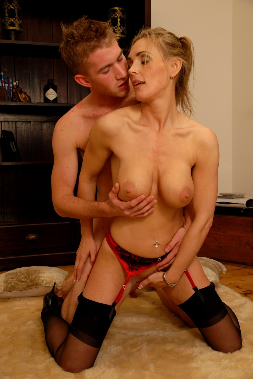 Hot milf with young stud