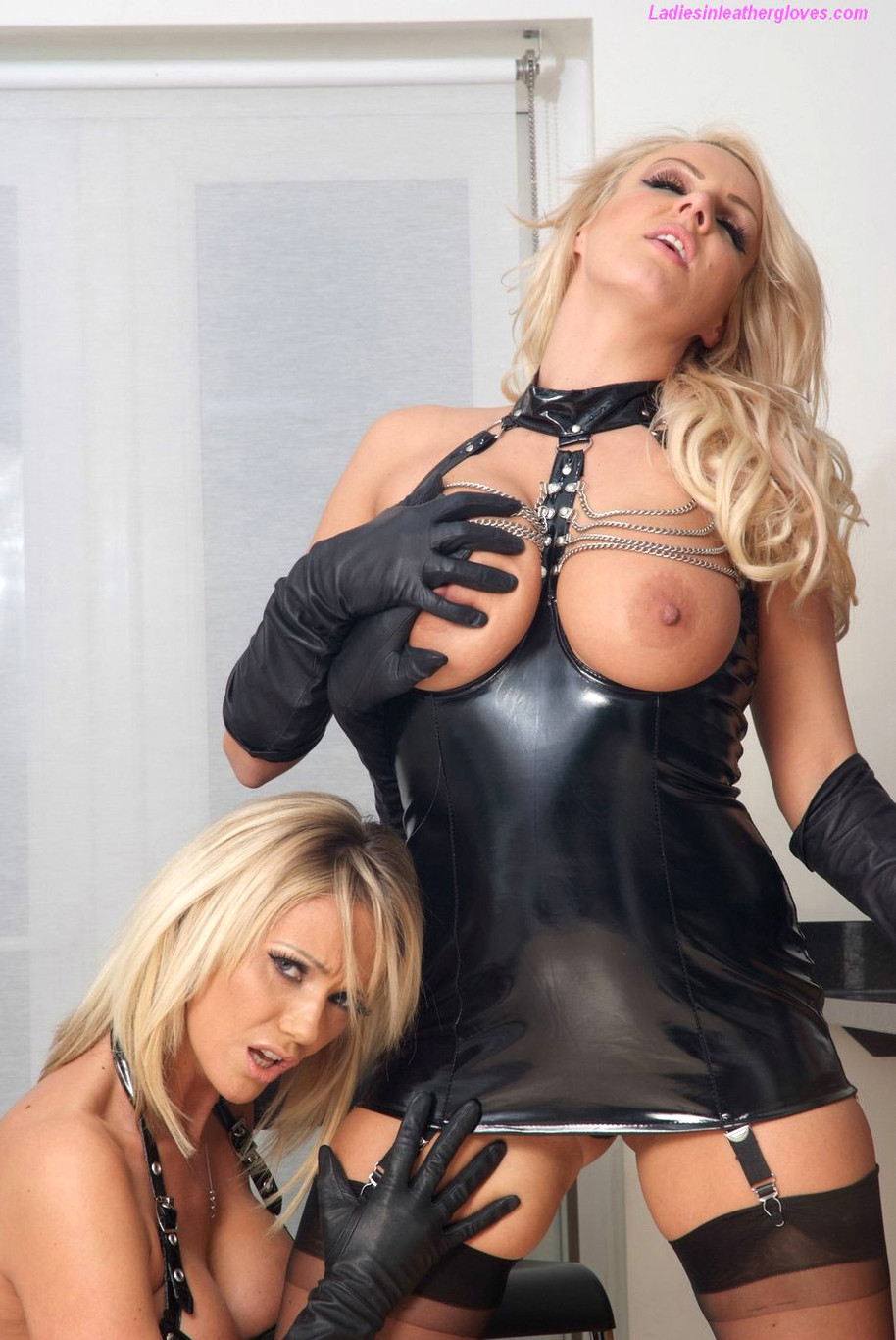 Blonde Fucked Leather Boots