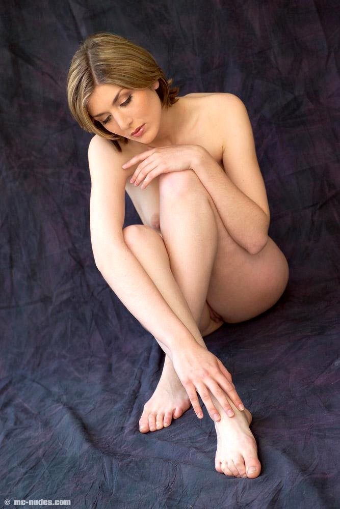 Naked Sitting Woman