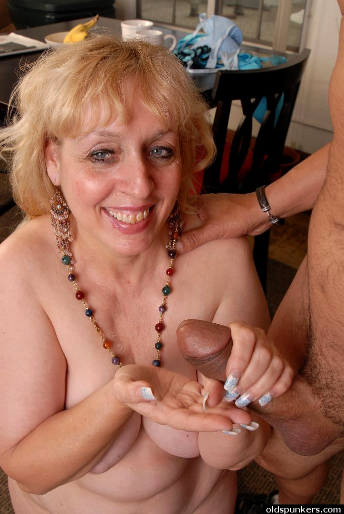Cute chubby old spunker loves hardcore fucking and 2 eat cum 1