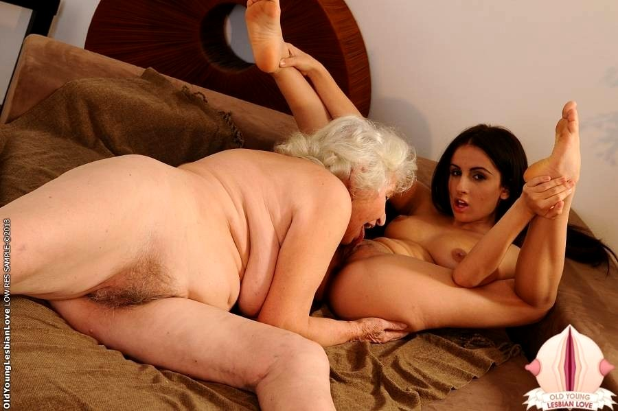 Old Granny Seduces Young Girl