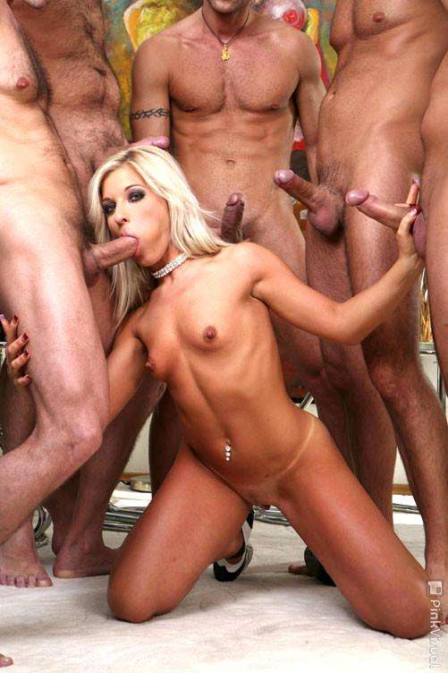 Blonde Gangbang Porn