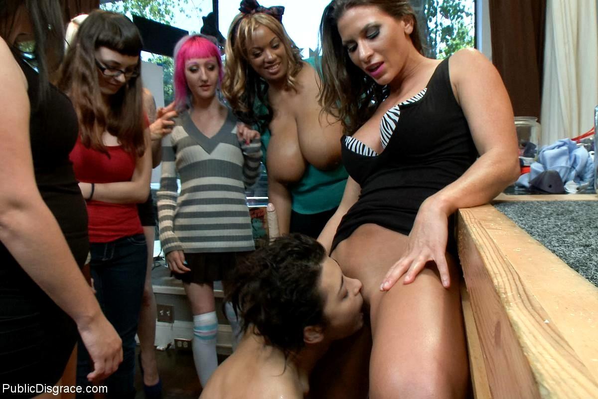 Lesbian public humiliation