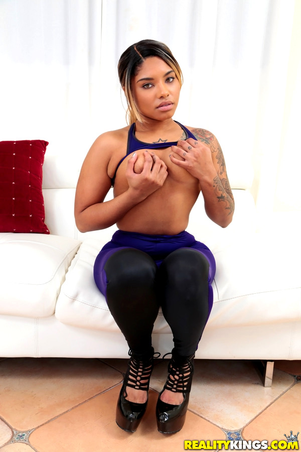 Sexy ebony banks and her hung basketball buddy - 2 part 7