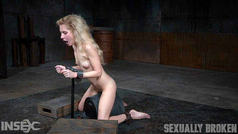Blonde bondage babe amber west as damsel in distress