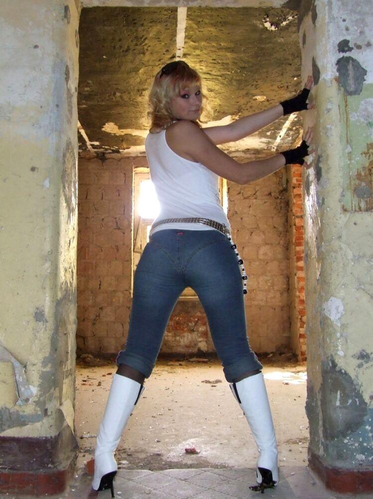 Babe danes Sexy Jeans Sexyjeans Model Lepo dekle v kavbojkah-1275