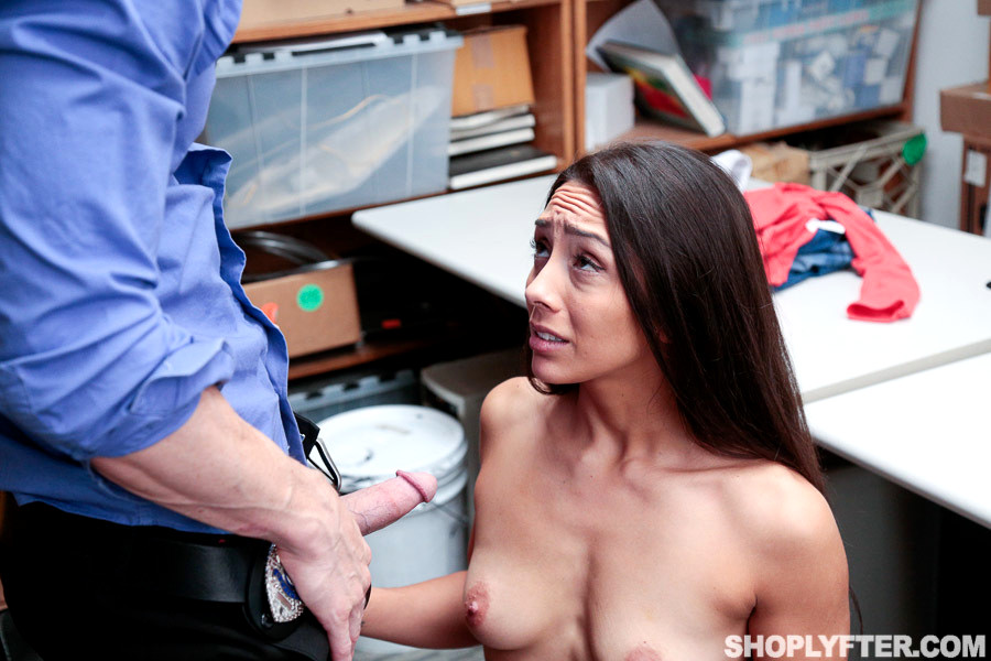 Shoplyfter hot busty guard fucks young thief 1