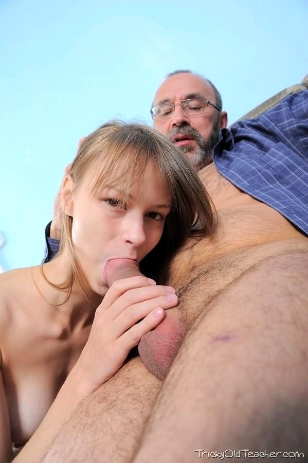 Tricky old teacher hot pigtailed brunette 2