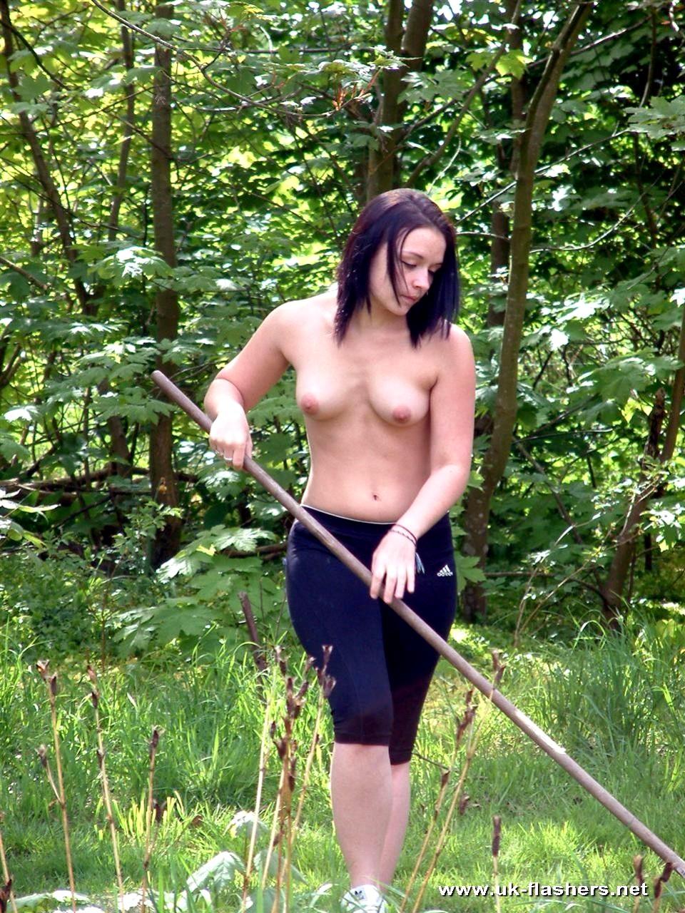 Nude Women Gardening