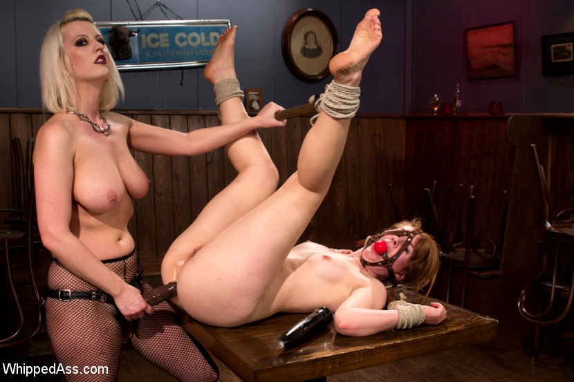 Wild Bondage And Torture In Bdsm Lesbian Femdom For Blonde