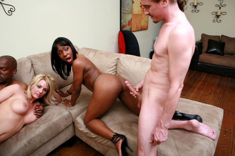 Interracial wife swapping makes everyone happy